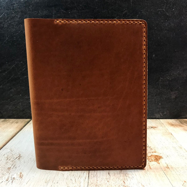 B6 Notebook Cover in Natural Dublin with Colonial Tan Thread