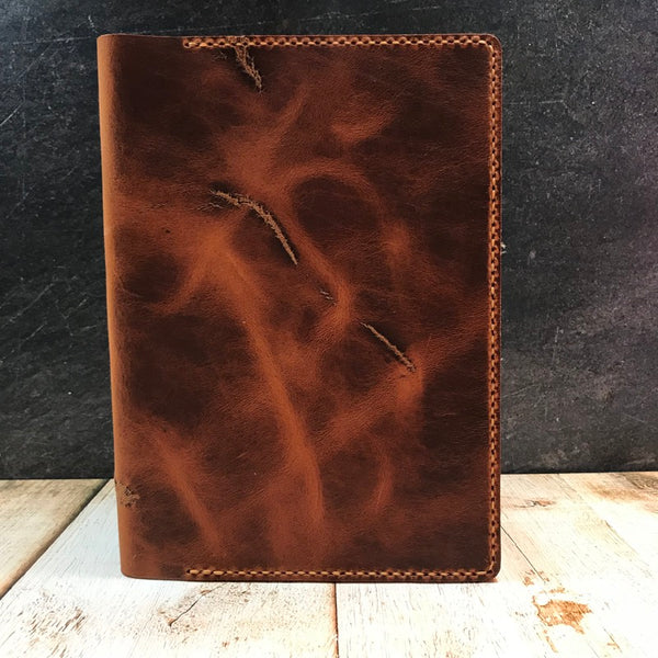 Full Focus Planner Cover in Distressed English Tan Dublin with Colonial Tan Thread
