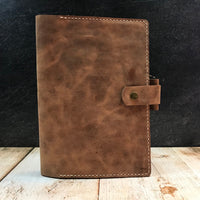 Full Focus Planner Cover in Natural VHF with Beige Thread