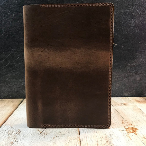 A5 Notebook Cover in Natural CXL with Havana Cigar Thread