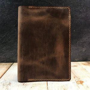 A5 Notebook Cover in Natural CXL with Colonial Tan Thread