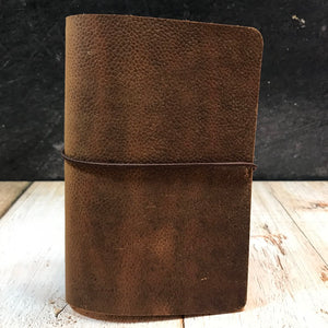 Travelers Notebook Style Pocket Size Notebook Cover in Scotch Grain