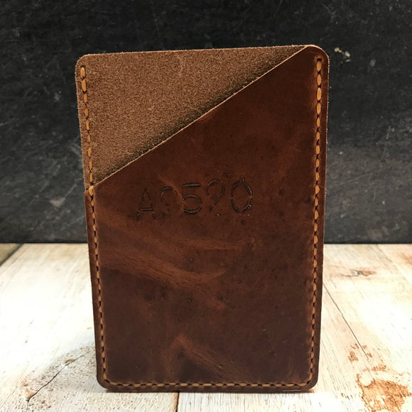 Pocket Notebook Sleeve in Brown Dublin with Colonial Tan Thread