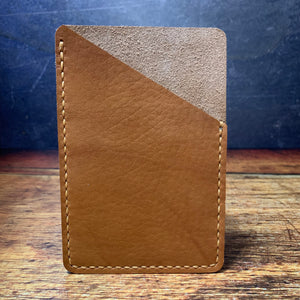Pocket Notebook Sleeve in Cognac Essex with Colonial Tan Thread