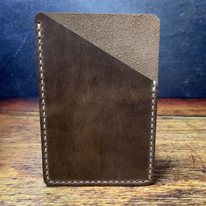 Pocket Notebook Sleeve in Natural CXL with Beige Thread