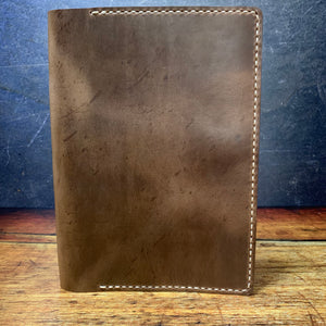 A5 Notebook Cover in Natural CXL with Beige Thread