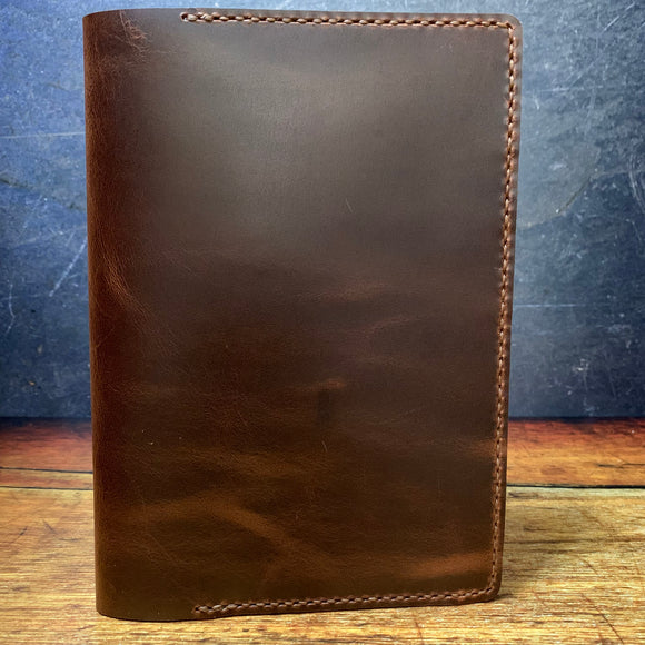 A5 Notebook Cover in Brown Ellis with Havana Cigar Thread