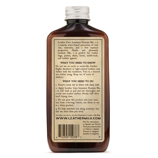 Leather Care Liniment NO. 1 – Premium Leather Conditioner (6oz)