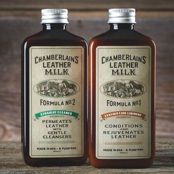 No. 1-2 Set: Leather Care Liniment & Straight Cleaner (6oz)