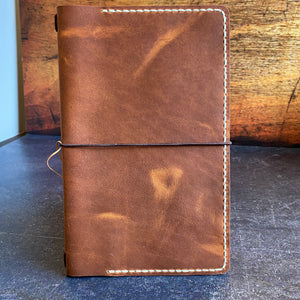 Travelers Notebook Style XL Standard Size Notebook Cover in English Tan Dublin