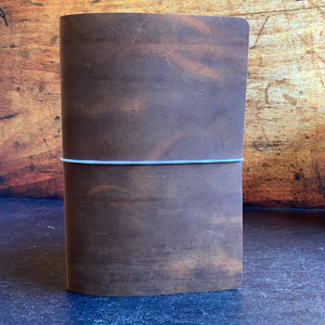 Travelers Notebook Style A5 Insert Single Size Cover in Seal Brown Grafton