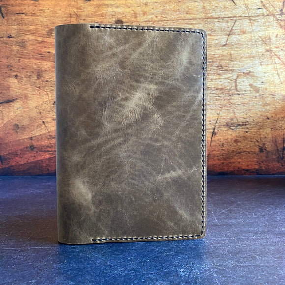 A5 Notebook Cover in Shadeshift York with Black Thread