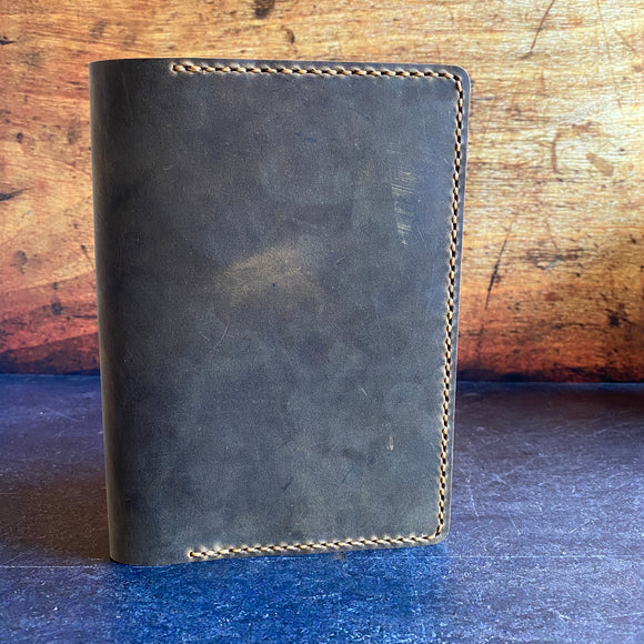 B6 Notebook Cover in Broken Oak Crazyhorse with Colonial Tan Thread