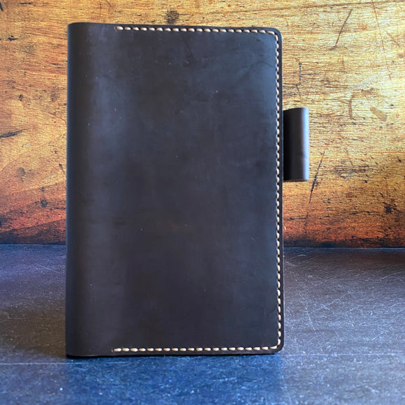 Large Moleskine Planner Cover in Brown CXL with Colonial Tan Thread
