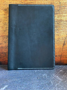 Full Focus Planner Cover in Black Dublin with White Thread