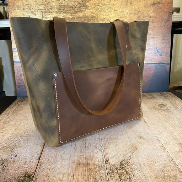 Medium Leather Tote Bag - Build Your Own