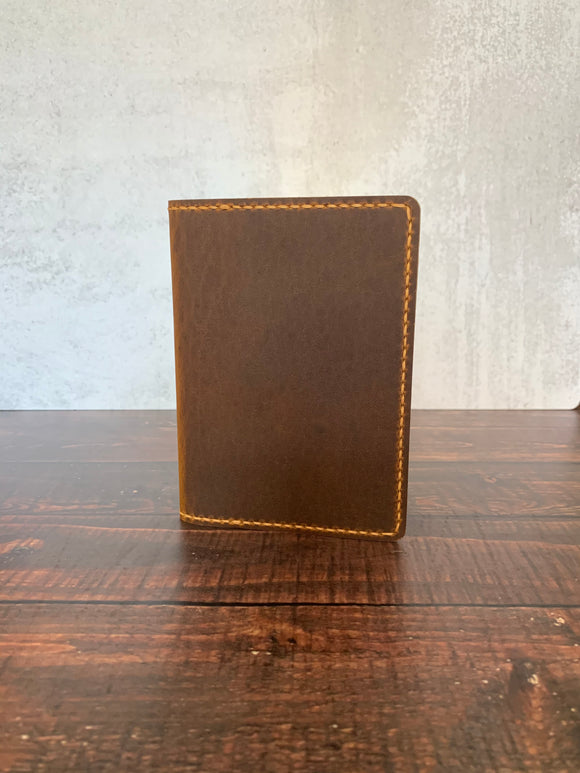 Leather A6 Notebook Cover in Sunset Renegade with Colonial Tan Thread