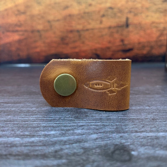 Rocket Wrap in English Tan Dublin with Brass Hardware