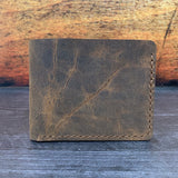 Bifold Wallet in Spiced VHF with Havana Cigar Thread
