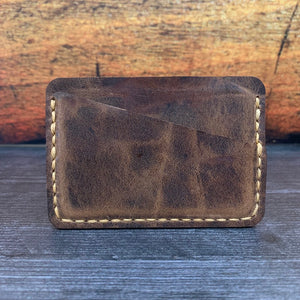 3-Pocket Wallet in OG Brown VHF with Havana Colonial Tan Thread