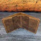 Bifold Wallet in OG Brown VHF with Havana Colonial Tan Thread