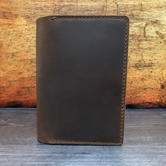 B6 Notebook Cover in Sable Oil Tan with Mid Brown Thread