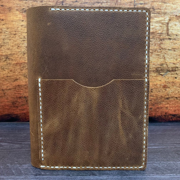 B6 Notebook Cover in Scotch Grain with Mid Cream Thread