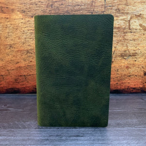 Travelers Notebook Style Cafe Note Size Notebook Cover in Green Oil Tan