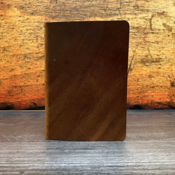 Travelers Notebook Style Pocket Size Notebook Cover in Nut Brown Dublin