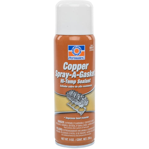 Permatex Copper Spray-A-Gasket Hi-Temp Sealant 9oz Aerosol Can