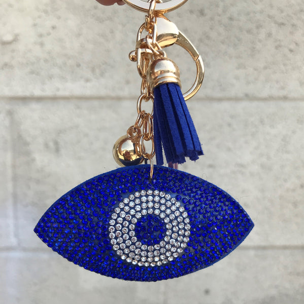Evil Eye Bling  Puff keychain