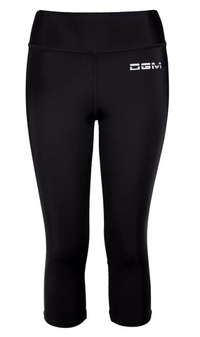 Female gym high waist capri - Black