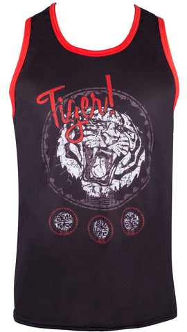 Mens gym bound vest - Tiger