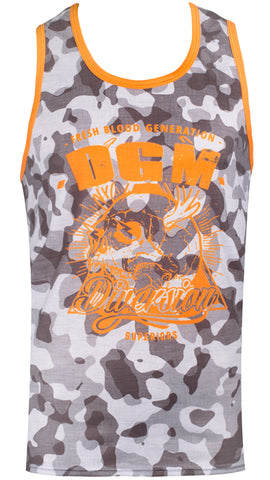 Mens gym bound vest - Grey blotch camo