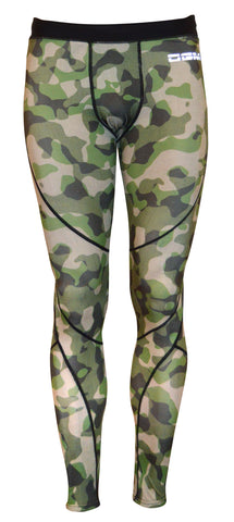 Mens gym Compression legging - Fatigue camo