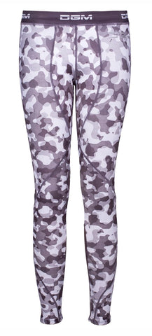 Female gym Compression legging - Grey blotch camo