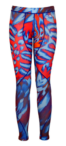 Female gym Compression legging - Zebra