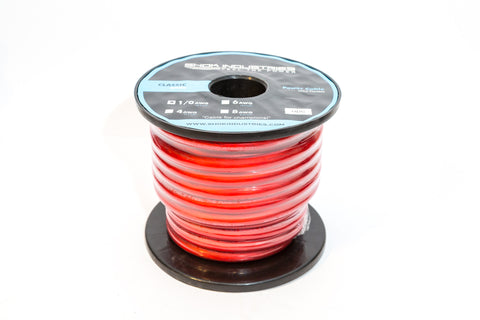 Shok Industries Classic 0 Gauge Car Audio Power Cable - 50Ft Reel