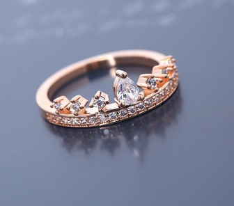 Princess Tiara Ring (Rose Gold)