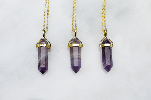 Royal Amethyst Stone Necklace