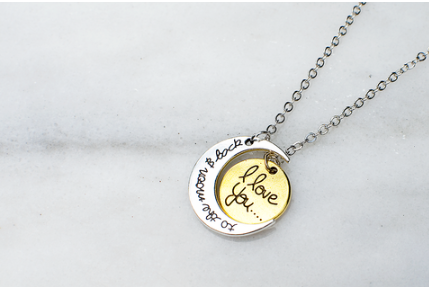 To The Moon and Back Necklace (Silver/Gold)