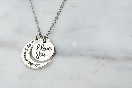 To The Moon and Back Necklace (Silver)