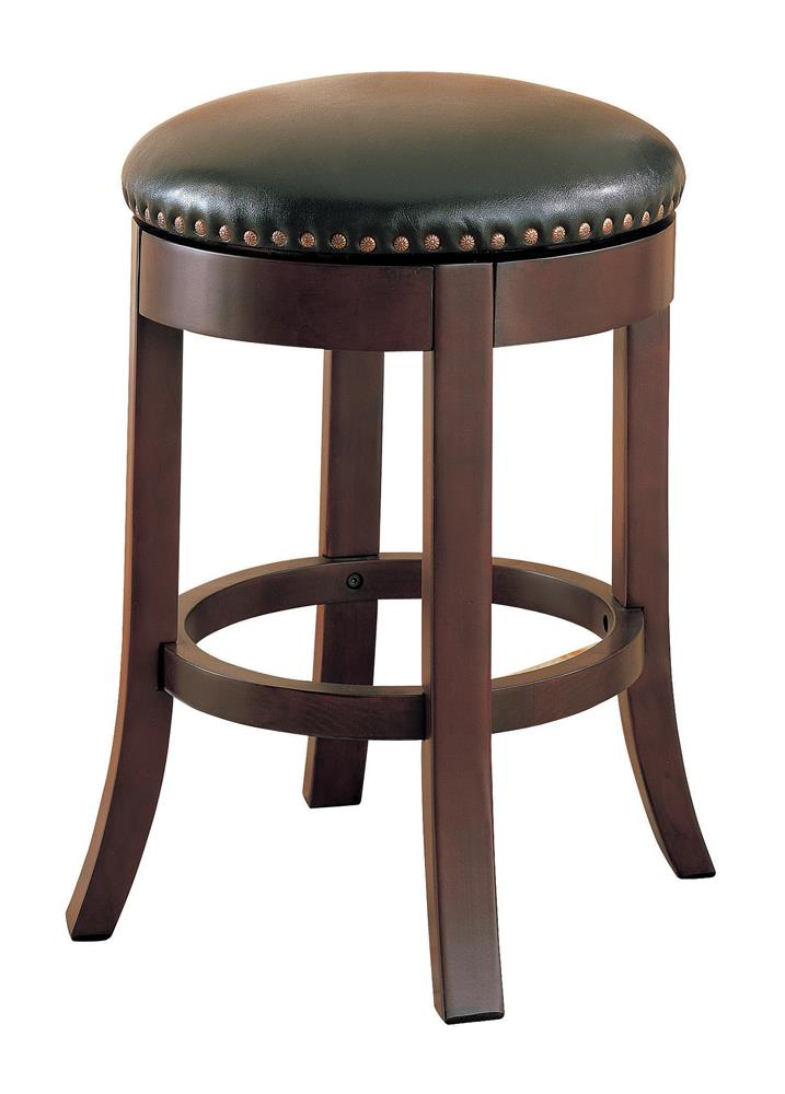 G101059 - Swivel Counter Height Stools With Upholstered Seat Brown