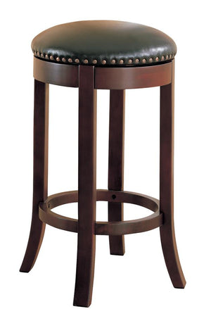 G101060 - Swivel Bar Stools With Upholstered Seat Brown