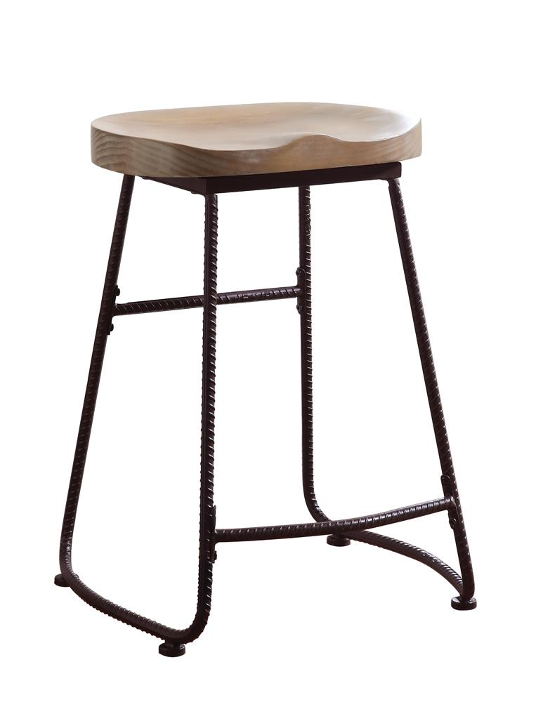 G101085 - Backless Bar And Counter Height Stool Driftwood And Dark Bronze