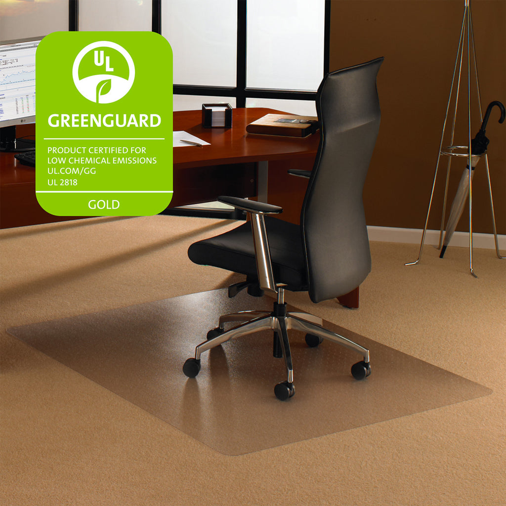 "Cleartex Ultimat Polycarbonate Rectangular Chair mat for Plush Pile Carpets Over 1/2"", Floor Mats, FloorTexLLC, - ReeceFurniture.com - Free Local Pick Ups: Frankenmuth, MI, Indianapolis, IN, Chicago Ridge, IL, and Detroit, MI"