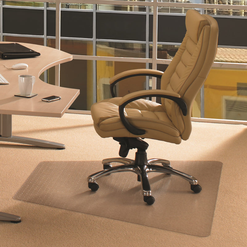 "Cleartex Advantagemat PVC Corner Workstation Chair mat for Medium Pile Carpets 3/4"" or less, Floor Mats, FloorTexLLC, - ReeceFurniture.com - Free Local Pick Ups: Frankenmuth, MI, Indianapolis, IN, Chicago Ridge, IL, and Detroit, MI"