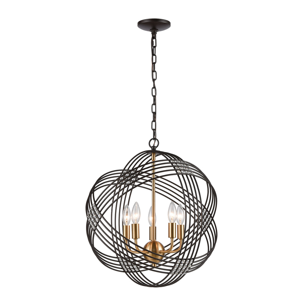 Concentric - Chandelier - Oil Rubbed Bronze, Satin Brass, Satin Brass