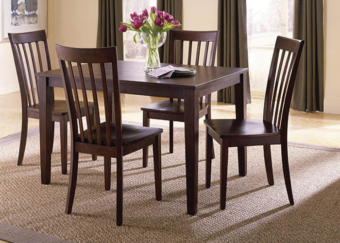 11220 Chocolate Brown 5PC Dinette, Dining, American Imports, - ReeceFurniture.com - Free Local Pick Ups: Frankenmuth, MI, Indianapolis, IN, Chicago Ridge, IL, and Detroit, MI