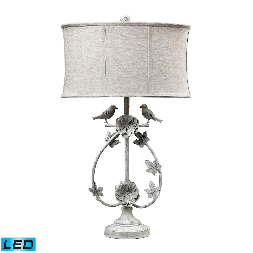 113-1134-LED Saint Louis Heights LED Table Lamp in Antique White, Table Lamp, Dimond Lighting, - ReeceFurniture.com - Free Local Pick Ups: Frankenmuth, MI, Indianapolis, IN, Chicago Ridge, IL, and Detroit, MI